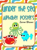 Under the Sea Themed Classroom Alphabet Posters Zaner Bloser Font
