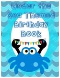 Under the Sea Themed Birthday Book