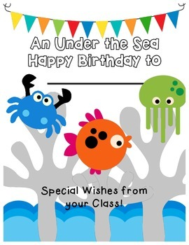 Under the Sea Themed Birthday Book