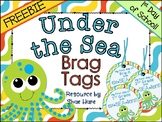 Under the Sea Themed Brag Tags {1st Day Back to School}  N