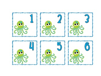 Under the Sea Themed Calendar Cards {fish crab} {Morning Math} Number Corner