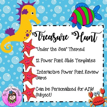 under the sea themed power point template interactive treasure hunt