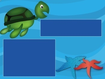 Under the Sea Themed Power Point Template/ Interactive Treasure Hunt Review Game