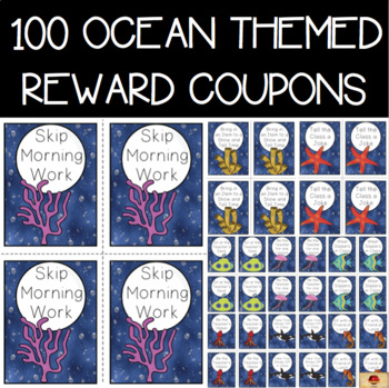 Under the Sea Themed Set of 100 Reward Coupons