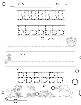 Under the Sea Tracing Letter Sheets