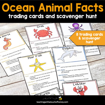 Ocean Animals - Trading Cards For Research and Report Writing