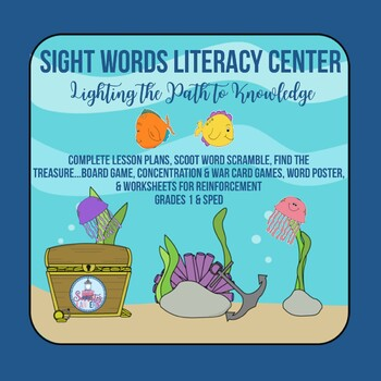 Sight Word Literacy Center for 1st Grade & SPED with Full