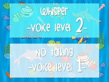 Under the Sea Voice Level Chart