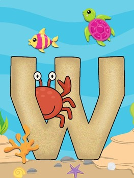"""Under the Sea """"WELCOME"""" Letters"""