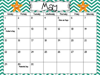 Under the Sea Wall Calendar