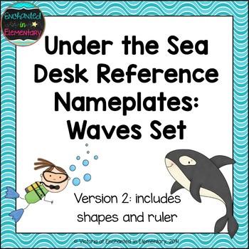 Under the Sea Waves Desk Reference Nameplates Version 2