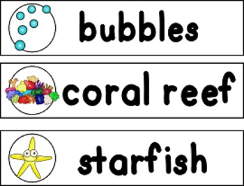 Under the Sea Word Strips