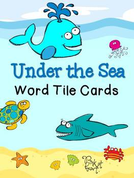 Under the Sea - Word Tile Cards