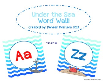 Under the Sea Word Wall