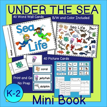 Under the Sea Word Wall Cards, Mini Book and Activities