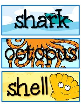 Under the Sea - Word Wall Words