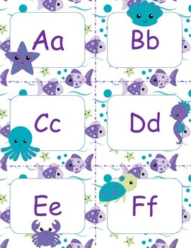 Under the Sea Word Wall with octopus, starfish, seahorse, turtles and more.