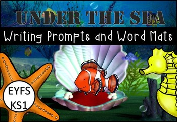 Under the Sea Writing Prompts and Word Mats