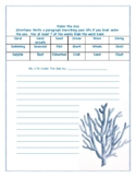 Under the Sea Writing Template