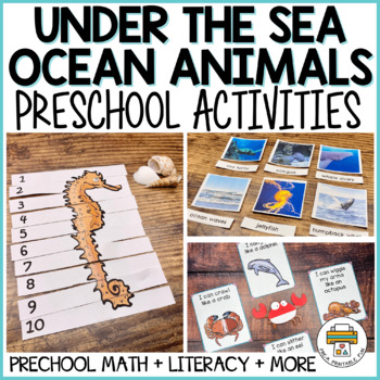 Under the Sea activity pack for Pre-K, Preschool and Tots
