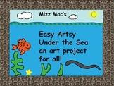 Under the Sea an Easy Artsy crayon resist art project