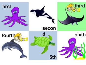 Under the Sea calendar pattern (lower grades)
