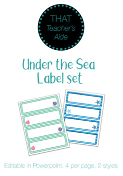 Under the Sea labels.