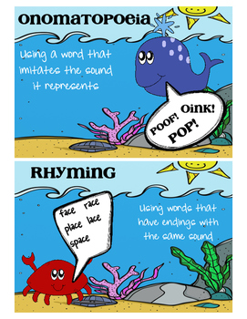 Under the Sea Poetry-posters and small group activity