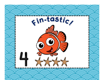 Under the Sea: behavior clip chart, welcome, desk name plates, binder covers