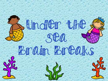 Under the Sea themed Brain Breaks