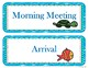 Under the Sea themed Daily Schedule Cards