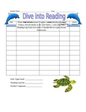 Under the Sea themed Reading Log