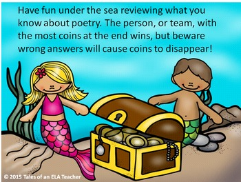 Under the Sea with POETRY! ~Power Point Game