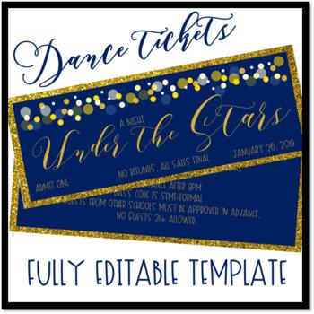 Under the Stars Dance Ticket Template