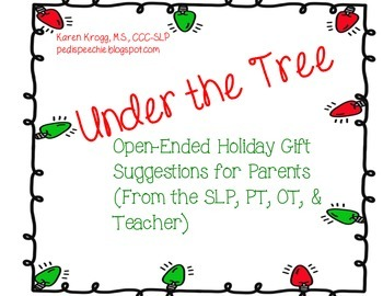 Under the Tree: Open- Ended Holiday Gift Suggestions FREEBIE