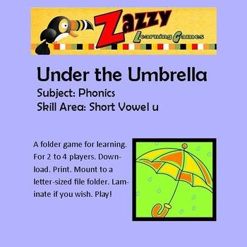 Under the Umbrella Folder Game Phonics short u