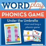 Under the Umbrella Short and Long Vowel U Phonics Game - Words Their Way Game