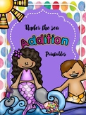 Under the sea Addition Printables