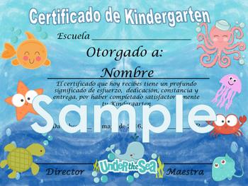 Under the sea Background Achievement award English / Spanish version