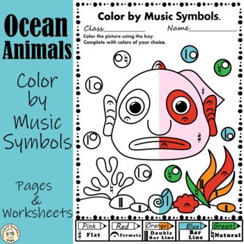 Under the sea: Color by Music Symbols