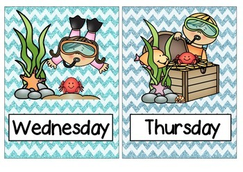 Under the sea Days of the week