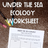 Under the sea: marine ecology worksheet to cover trophic chains and webs