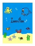 Under the sea teacher binder covers