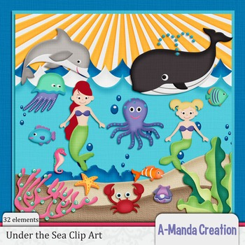 Under thes Sea Clip Art