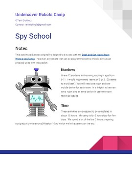 Undercover Robots Camp - Spy School