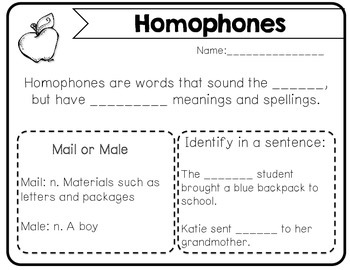 Underestanding Homophones in Context Task Cards