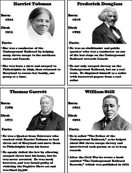 Black History Month Unit: The Underground Railroad Activity/ Slavery Foldable