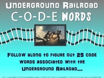Underground Railroad CODE WORDS activity - Engaging PowerP