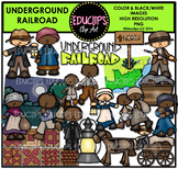Underground Railroad Clip Art Bundle  {Educlips Clipart}