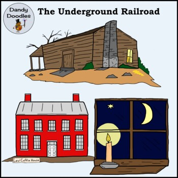 Underground Railroad Clip Art by Dandy Doodles